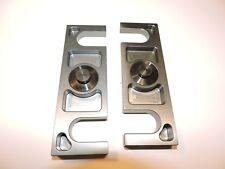 """NEW CV L & R lowering blocks 1/4"""" x 2.5 deg. aluminum pair late model Nascar"""