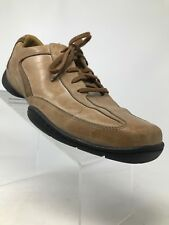 Rockport XCS Leather Brown Cream Driving Comfort Walking Shoes Men 11 M