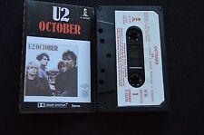 U2 OCTOBER RARE NEW ZEALAND CASSETTE TAPE!