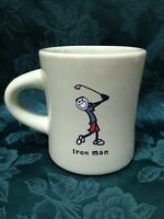 Life Is Good Home LIG Jake Iron Man Golfing Golf Coffee Mug Tea Cup Green