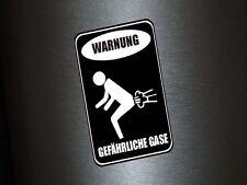 1 x Aufkleber Warnung Gefährliche Gase Pups Achtung Warnschild Shocker Sticker