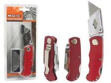 Cuter navaja profesional + 5 cuchillas cuter de calidad color rojo 9 cm
