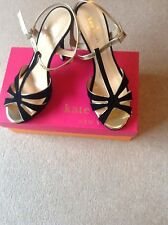 KATE SPADE ROSIE SHOE SIZE UK 6 USA 8M BLACK SUEDE & GOLD BRAND NEW IN BOX