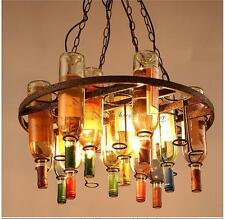 Vintage Retro Style Wine Bottle Kitchen Dining Round Chandelier Pendant Lamp