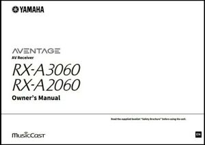 Yamaha RX-A3060 / RX-A2060 AV Receivers Owner's Manual - Operating Instructions
