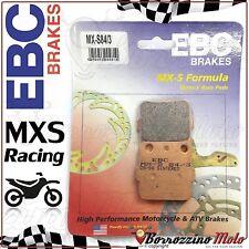 PASTIGLIE FRENO POSTERIORE RACING EBC MX-S 84/3 YAMAHA YZ 80 1999 2000 2001