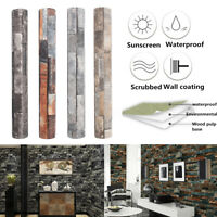 10m Roll Wallpaper Natural 3D Brick Stone Modern Textured Art Wall Paper