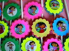 30 Ct DORA THE EXPLORER Cupcake Toppers Birthday Party Favors, Baby Shower 30Ct