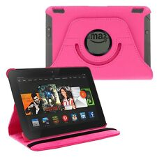 360 Rotating PU Leather Case Skin Smart Cover Stand for Amazon Kindle Fire HDX 7