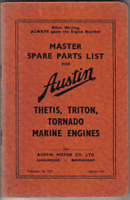 Austin Thetis, Triton & Tornado Marine Engine Original Spare Parts List 1945
