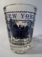 NEW YORK SCENERY BLUE SHOT GLASS SHOTGLASS