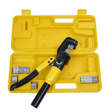 10 Ton Hydraulic Wire Battery Cable Lug Terminal Crimper Crimping Tool Amp 9 Dies