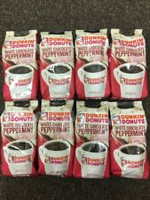 8 Dunkin' Donuts White Chocolate Peppermint Ground Coffee 11 Oz EXP. Sep 2018