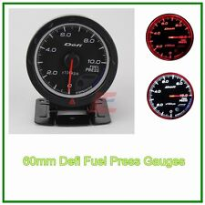 "2.5"" 60mm Black face auto meter advanced fuel press gauge amber red/ white light"