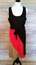 Completely Me By Liz Lange Sleeveless Dress Knit Diagonal Color Block Size L NWT