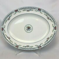 """NEW MINT UNUSED WEDGWOOD ROSEDALE 15"""" OVAL SERVING PLATTER FREE SHIPPING"""
