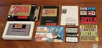 The Legend of Zelda: A Link to the Past Super Nintendo SNES CIB Box Complete Lot