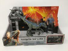 New ListingJurassic World Velociraptor Dinosaur Blue Figure with Owen 8 Inch Dino