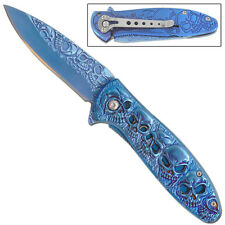 Archfiend Unleashed Spring Assist Fantasy Skull Outdoor Pocket Knife