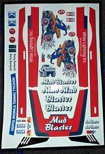 Mud Blaster Rojo Tamiya Hpi Losi Rc Personalizado 1/10th Plus Pegatinas etiquetas adicionales