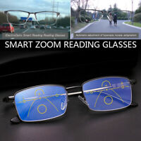 German Smart Zoom Reading Glasses Multifocal Reading Glasses Anti Blue Light NEW