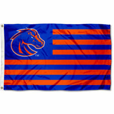 Boise State University Broncos Stars and Stripes Nation USA Flag