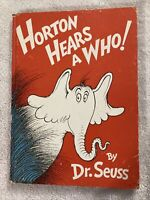 Vintage Horton Hears A Who Copyright 1954 First Edition Dr Seuss Hardcover