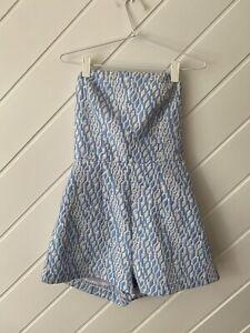 "Kookai - Ladies ""Venice"" Blue/White Short Playsuit - Size 38."