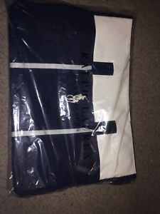 BRAND NEW! Navy Cream Ralph Lauren Polo Weekender/Travel/Holdall/Duffle Bag