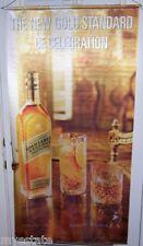 JOHNNIE WALKER Gold Label  Big Satin Advertising Banner Scotch Whisky Sign