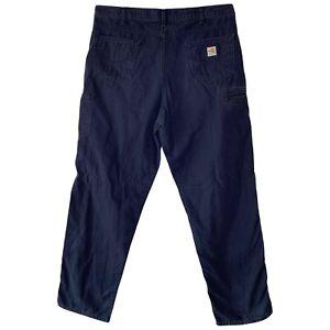 Vintage Carhartt Blue Work Pants FR Flame Resistant NFPA2112 40x36