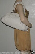 Authentic CHRISTIAN DIOR Leather My Dior Satchel Off White