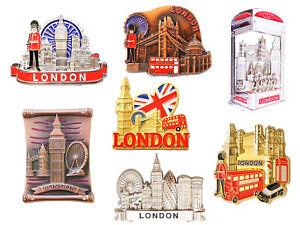 Best Mix of London Icons Design Set of 7 Metal Fridge Magnets - 7 Metal Pieces