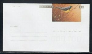 CANADA Warbler MNH Postal Stationery