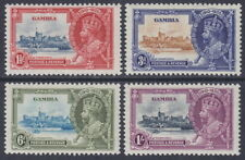 GAMBIA - 1935 Silver Jubilee (4v) - 3d with VERTICAL LINE Variety - UM / MNH