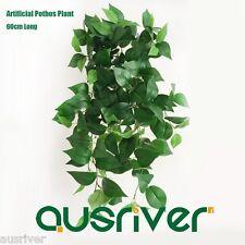 2Pcs 60cm Artificial Pothos Plant Fake Leaves Ivy Vine Hanging Trailing Plants
