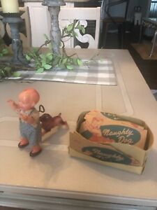 Vintage Naughty Dog / Poor Pete Celluloid Wind up, Japan