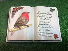 SPECIAL DAD CHRISTMAS GRAVE MEMORIAL ORNAMENT, RED ROBIN GRAVESIDE CEMETERY GIFT