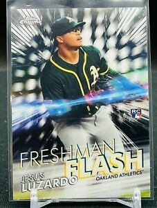 2020 Topps Chrome Jesus Luzardo Freshman Flash RC Oakland Athletics