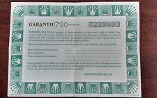 ROLEX Certificate Garantie Warranty 572.02.200 Air King 14000 Year 90'S Airking
