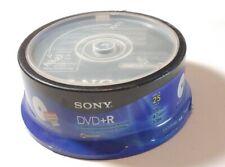 25 Sony 16X White Inkjet Hub Printable AccuCORE 4.7GB DVD+R NEW