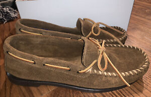 Minnetonka Men's Moccasin / Size 9.5 / Brown Ruff (923) - BRAND NEW IN BOX