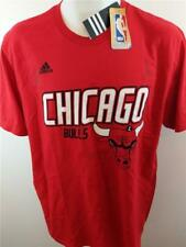 Men s adidas Size Large NBA Go to Tees Chicago Bulls Logo Red Shirt c5d17a7fa