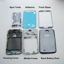 Complete Housing cover frame black & Glass screen replacement for Samsung S4