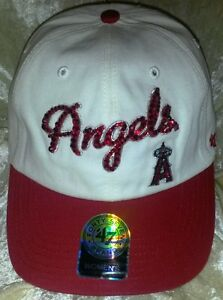 Anaheim Angels Womens 47 Brand Rhinestone Bling MLB Baseball Cap Hat ~NEW~