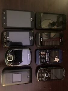 Lot Of Cell Phones 8 Phones For Parts (Samsung, LG, ZTE, and more!)