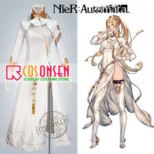 Cosonsen Game NieR Automata YoRHa Commander Cosplay Costume White Dress All Size