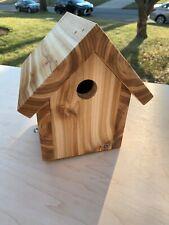 WREN NUTHATCH CHICKADEE BIRD HOUSE CEDAR HANDMADE USA RECLAIMED TIMBER