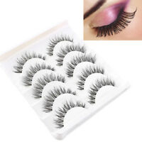 5 Pair Beauty Wispies Natural Long Thick Soft Fake False Eyelashes Handmade UK