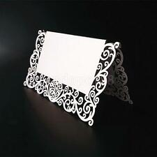 25x Table Name No. Place Cards Pearlescent Laser Cut For Wedding Party Decor